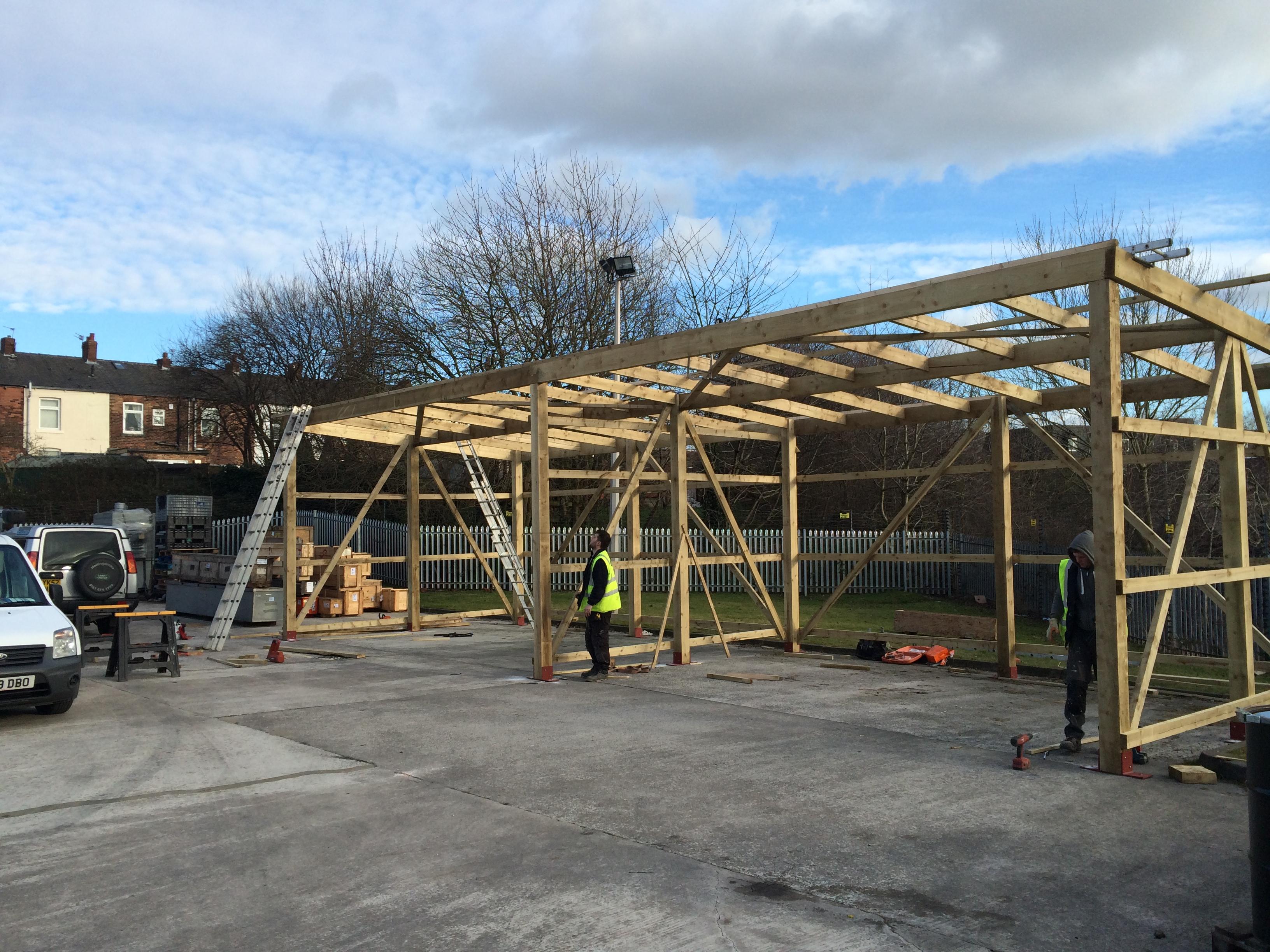 Wooden Framework Constructed Hyde