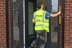 New Office Door Fitted Bredbury
