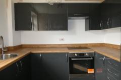 modern grey kitchen installed