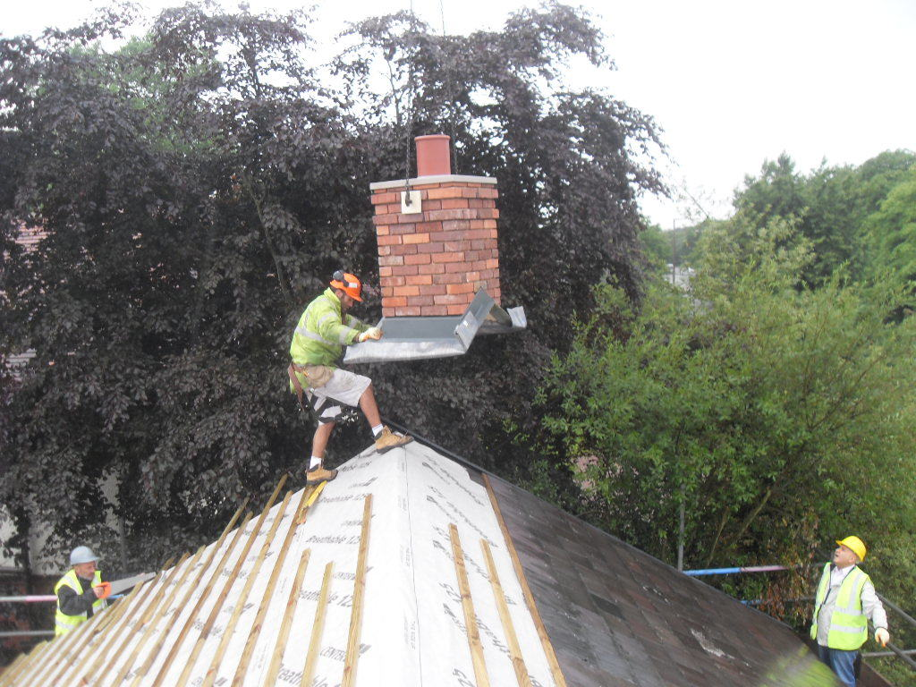 house extension chimney
