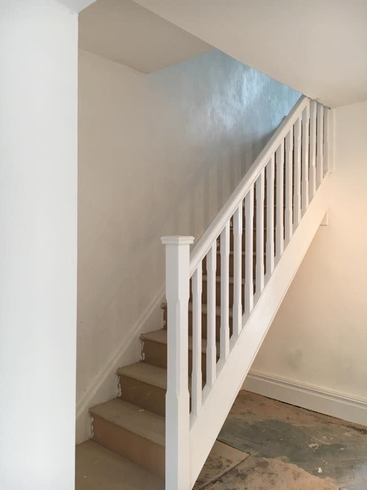Staircase fitted and complete