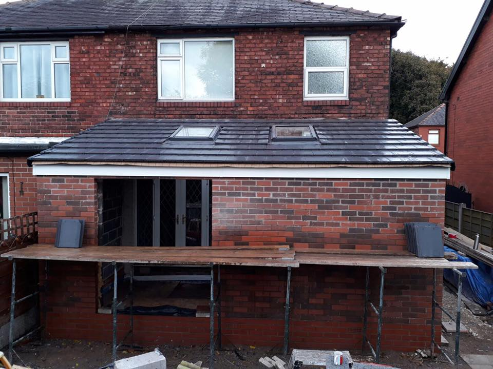 extension in dukinfield back door